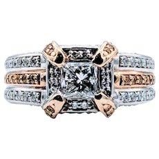 Gorgeous Princess Two-Tone Diamond Ring
