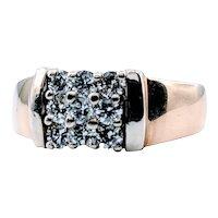 9 Diamond Squared Cocktail Ring