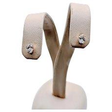 .51ctw Oval Diamond Stud Earrings