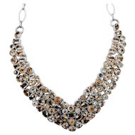 One of a Kind 90ctw Citrine Bib Sterling Necklace