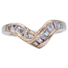 Contoured Diamond Ring