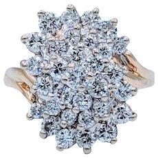 1.48ctw Diamond Waterfall Ring
