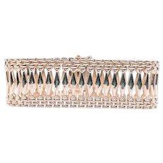 Vintage Italian Wide Fancy Link Bracelet