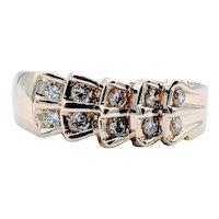 Vintage Double Row Diamond Ring
