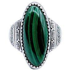 Carolyn Pollack Malachite Ring SS