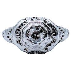 .33ct European Diamond Engagement Ring