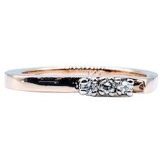 3-Stone Diamond Ring Fun Shape Shank