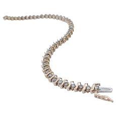 """Classic """"S"""" Link Tennis Bracelet 2.5ctw"""