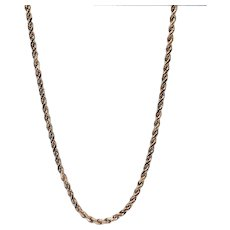 "Beautiful 18"" Gold Rope Chain"