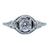 18kt .50ct Diamond Engagement Ring