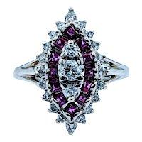 **Weekend Sale Item** Vintage Red Spinel & Diamond Ring