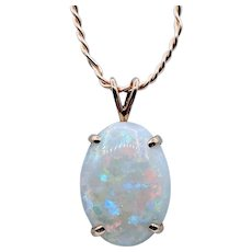Stunning Opal Pendant with Amazing Fire 13 x 18 mm