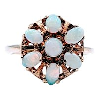 Vintage 7 stone Opal Cocktail Ring