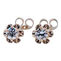 .40ctw Buttercup 6 Prong Diamond Earrings