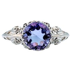 18kt Vintage Ring With Amethyst
