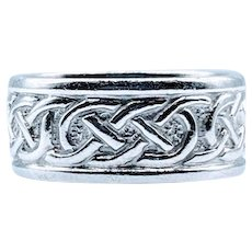 Celtic Knot 9mm Eternity Ring 14K Made in Ireland