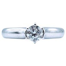 Vintage 6 Prong .50ct Round Diamond Ring