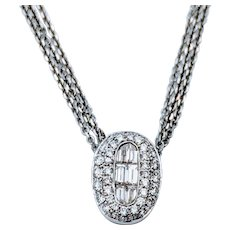18kt Diamond Pendant with Chain