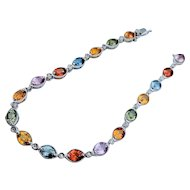 Beautiful 18kt Multicolor Sapphire & Diamond Bracelet