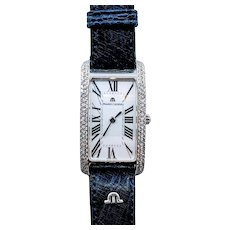 Rare 18kw Diamond Maurice LaCroix Wristwatch 1.5ctw