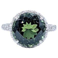 Luxurious Lombardi Tourmaline & Diamond Cocktail Ring