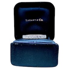 Tiffany Platinum Diamond Eternity Band .75ctw w/Ring Box