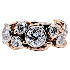Custom Vintage Diamond Fashion Ring 1.85ctw 14k