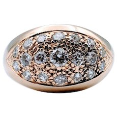 .75ctw Vintage Diamond Pave Dome Ring