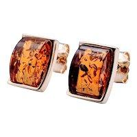 Vintage Baltic Amber Earrings