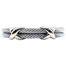 Retired David Yurman X Bracelet SS/14k