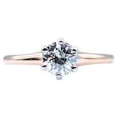 Vintage .50ct Mine Cut Diamond Engagement Ring