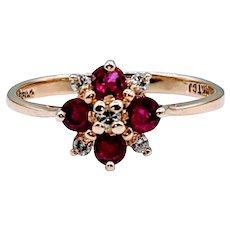 14kt Ruby & Diamond Ring