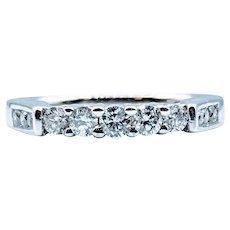 Unique Diamond Wedding Band 3/8ctw