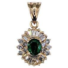Luxurious Emerald & Diamond Pendant