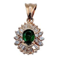 Emerald & Diamond Ballerina Pendant