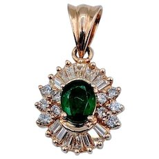 Emerald & Diamond Ballerina Pendant