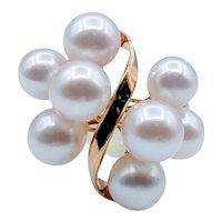 Vintage Akoya Pearl Cocktail Ring