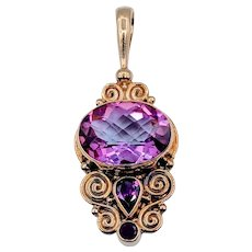 Topaz, Tourmaline, and Ruby 18k Pendant