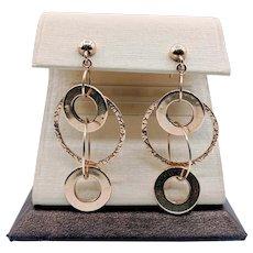 Yellow Gold Dangle Fashion Earrings