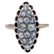 Antique Mine Cut Diamond Ring .75ctw