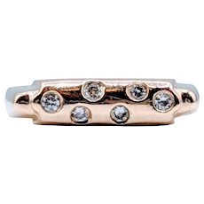 .15ctw Burnished Diamond Gold Ring