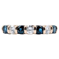 Yellow Gold Diamond & Sapphire Ring
