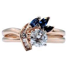 Diamond & Sapphire Yellow Gold Ring
