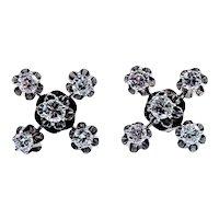 1 ctw Diamond Vintage Earrings