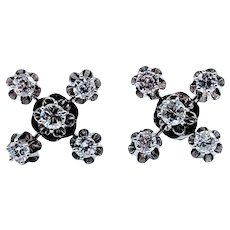 1 ctw Diamond Vintage Earrings