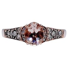 Retired LeVian Morganite & Chocolate Diamond Ring
