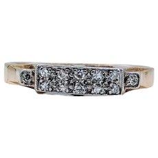Vintage Platinum and 18k Diamond Ring