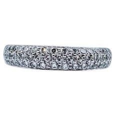 1/2 Carat Diamond Pave & Platinum Ring