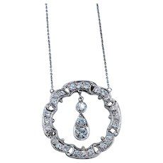 1.35ctw Diamond and Gold Necklace