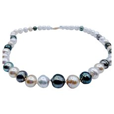 Baroque Tahitian & South Sea Pearl Necklace